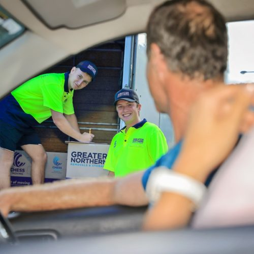 Cairns Removals team loading the truck with boxes