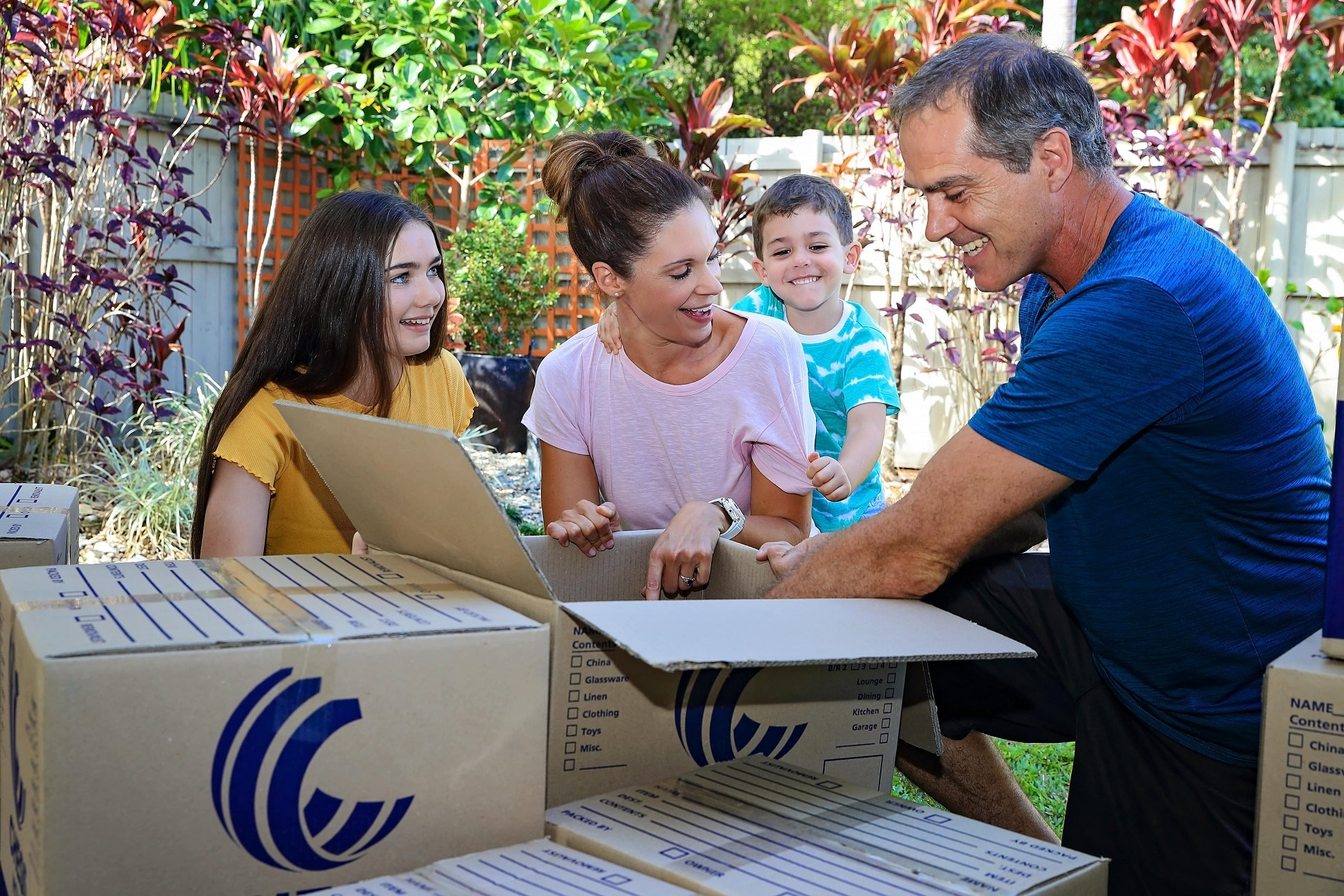 Family moving home - Greater Northern Removals and Storage