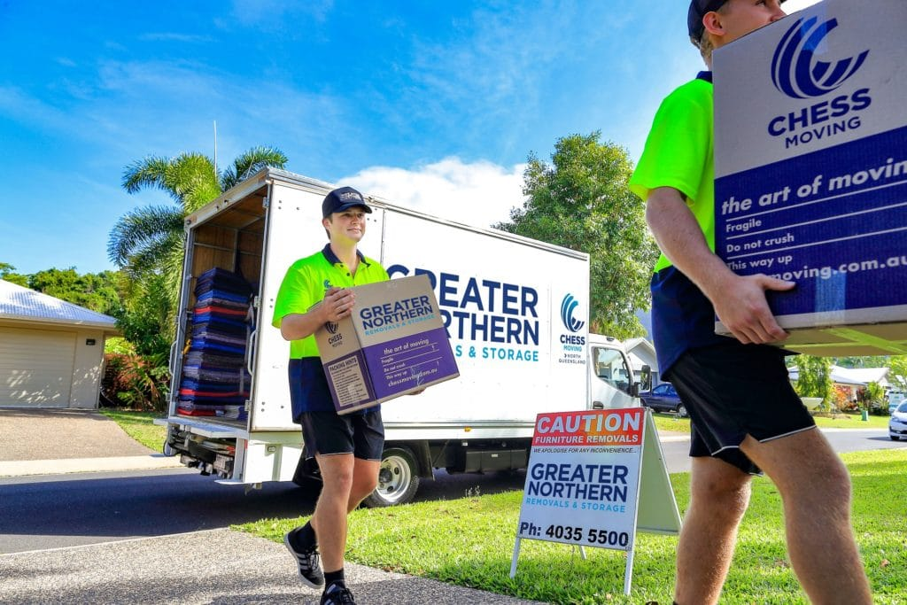 Professional removalists moving home in Cairns