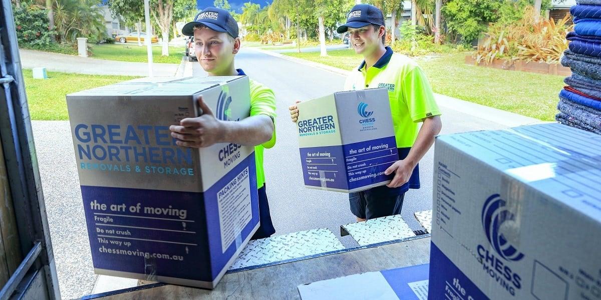 Removals team - door to door services